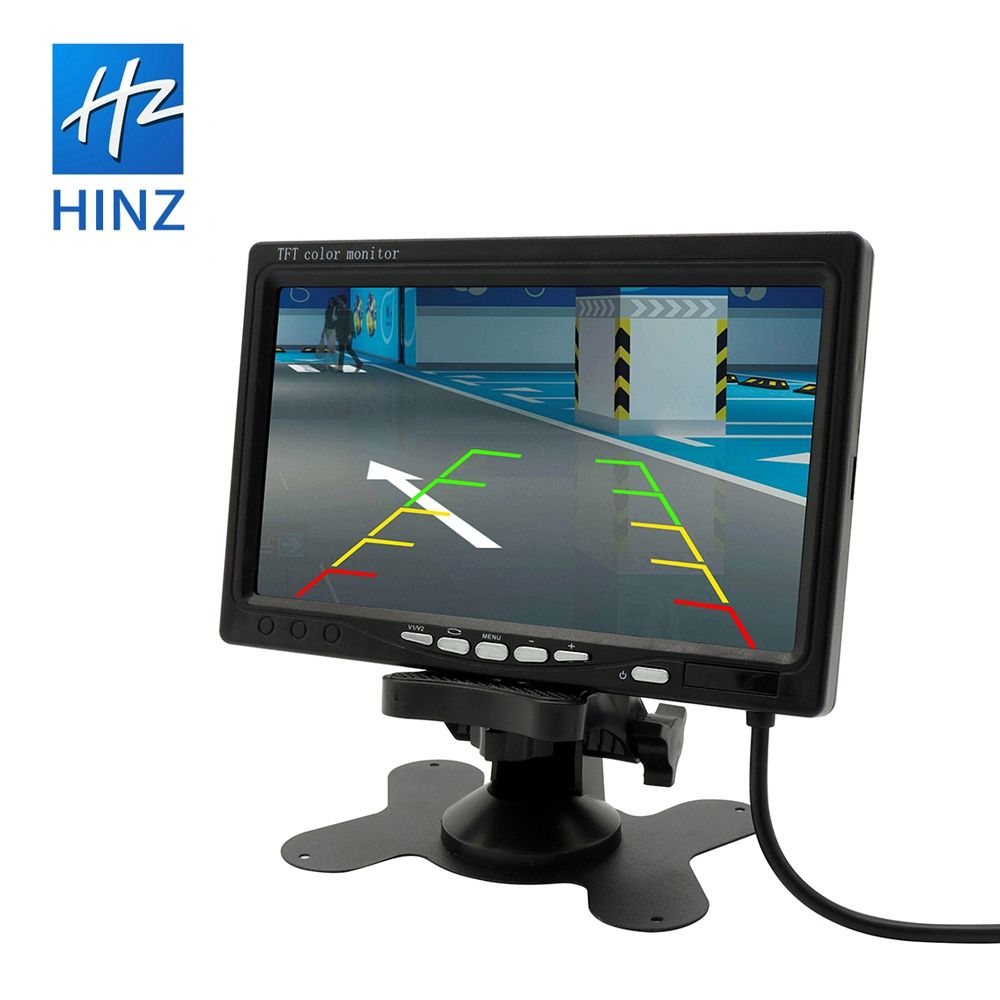 Factory wholesale OEM design reversing 7 inch mini tv car lcd reverse rear view monitor with 2 AV input