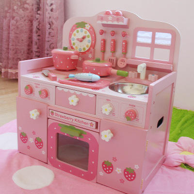 2019 Free Shipping Japanese Wooden Kitchen toy Play set for the Girls Role Play educational toys WKT26-A