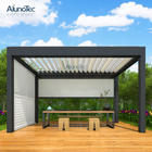 Aluminum Motorized Waterproof Pergola Covers Sunshade Louvered Roof Gazebo With Louvre
