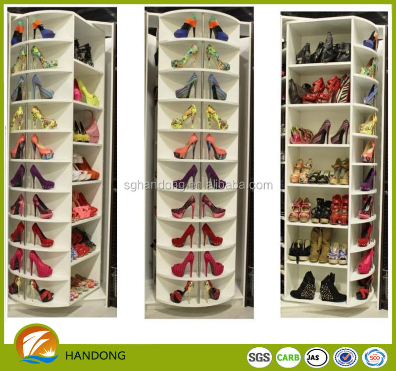 european style modern Rotary shoes cabinet for living room