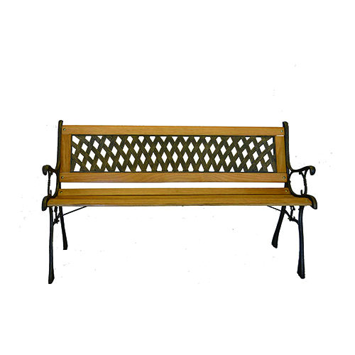 New 3 people cast iron garden bench
