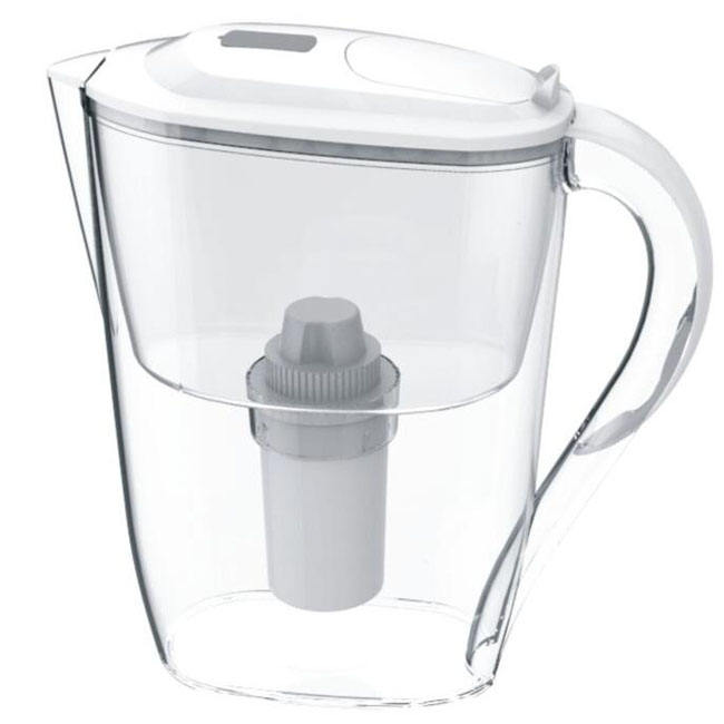 Household water pitcher with digital time display