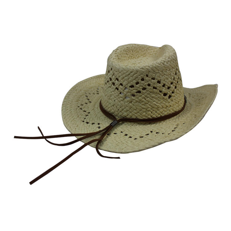 Wholesales high quality unisex cowboy hats straw for sale