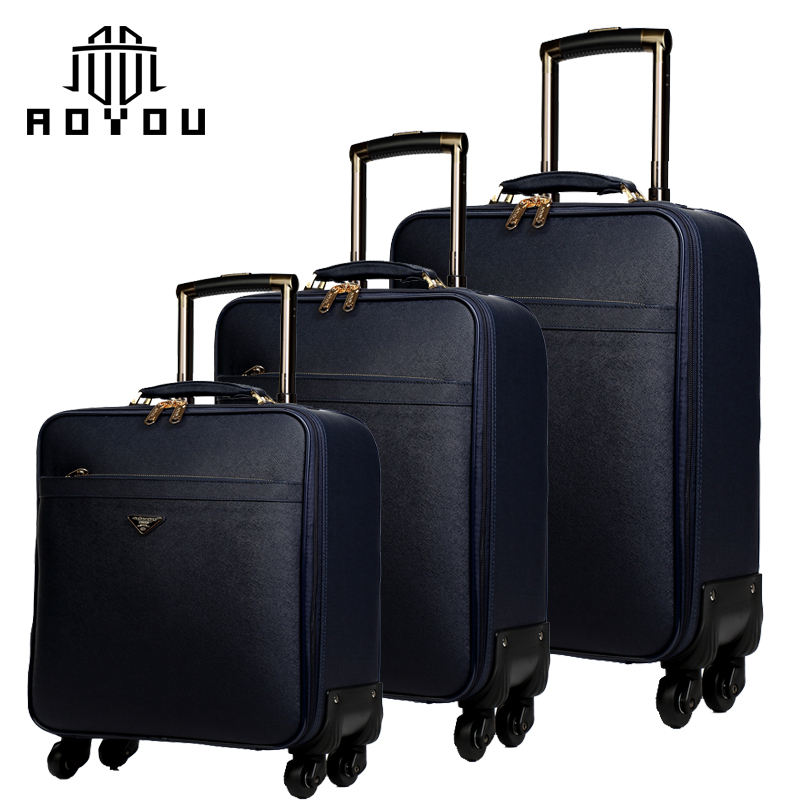 3pcs 16/20/24 inch Newcom Hot sale luggage pu luggage sets for men luggage suitcase