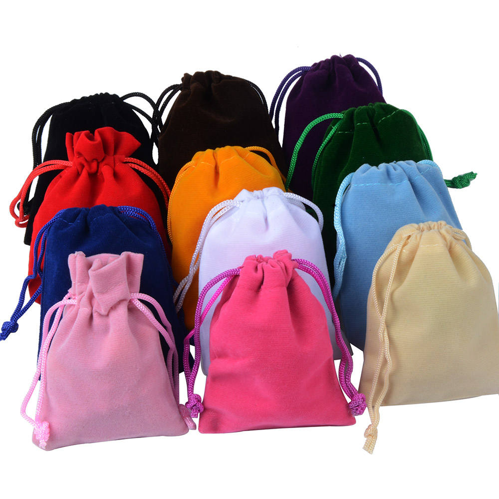 7X9cm Wholesale Jewelry Packing Pouch Small Drawstring Gift Velvet Bag