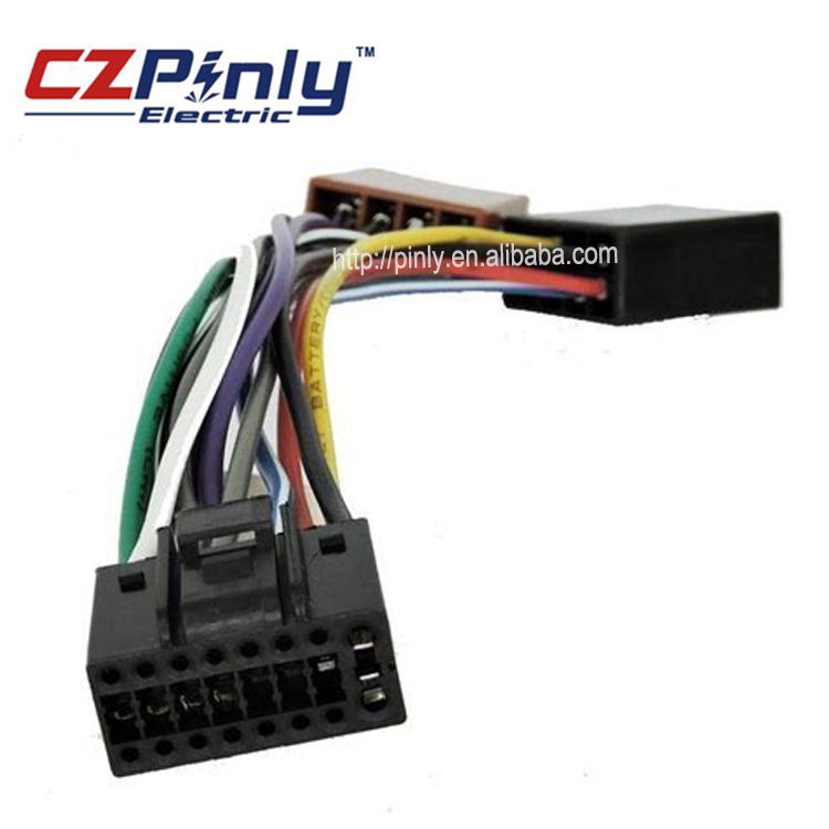 Car stereo wiring harness ISO connector wire