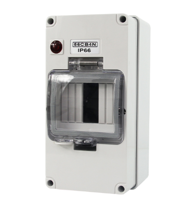 IP66 56CB4N 4 ways Electrical Solar dc mcb 방수 분포 상자/junction box 대 한 4 poles mini circuit breaker