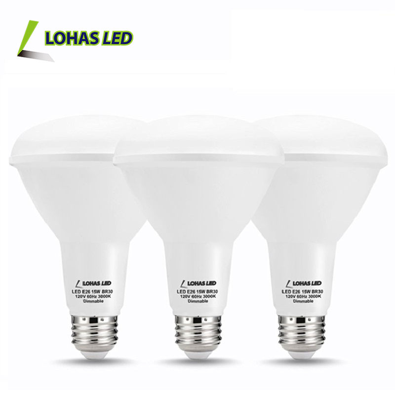 LED BR30 Light Bulbs 3W 5W 7W 9W 12W 15W E27 B22 BR30 LED Bulbs Dimmable Warm/Cool White 15W LED Light China Supplier
