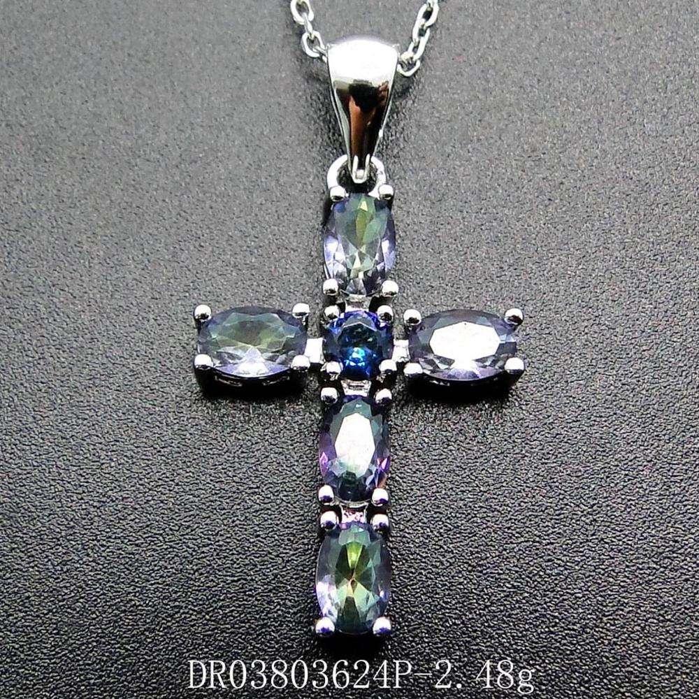 .925 Sterling Silver Onyx Latin Cross Charm Pendant MSRP $119