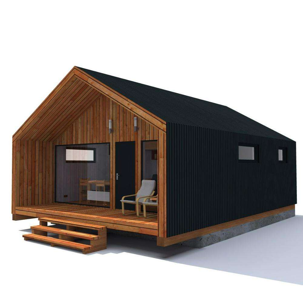 Prefab wooden House light steel wooden house
