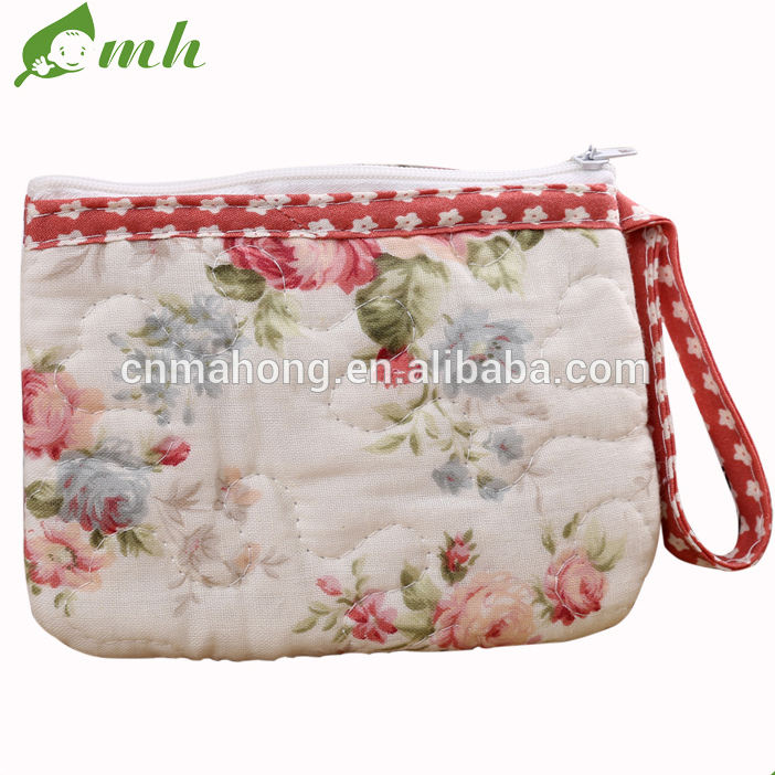 China 100% cotton lady new design for outside change wallet