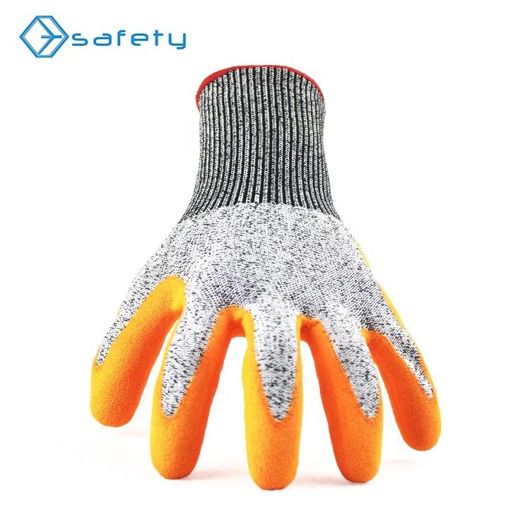 Rubber Coated Heavy Duty Cut Resistance Protect Top Fit Glove