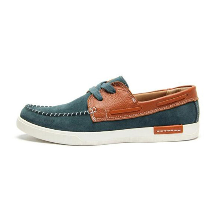 British Korean trend men's new sailing leather casual shoes