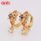 China Gift Items 18K 14K Gold Plated Wholesale Ladies Ear Ring Jewellery