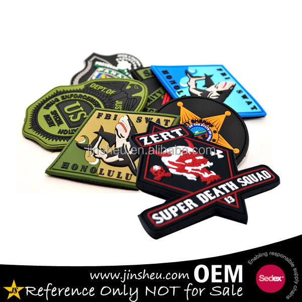 Custom Rubber Logo 3D Zachte Custom PVC Patch