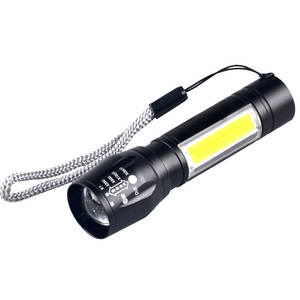 USB Rechargeable Zoom Torch LED Mini Size Dual Lights LED Torchlight