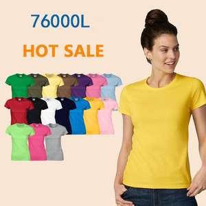 2019 New Fashion Custom Printing Cotton Plain T Shirts O-neck Blank T Shirt for Women
