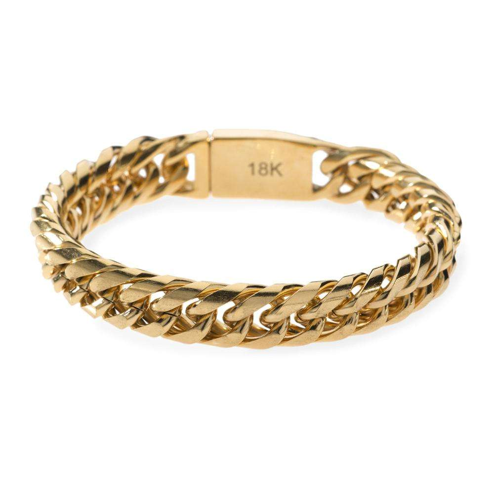China Wholesale Men Italian Gold Bracelet For Men With Luxe Chains Gold Chains