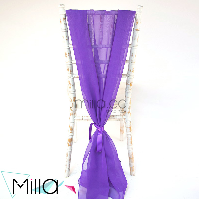 2016 New romantic chiffon drape chair sash