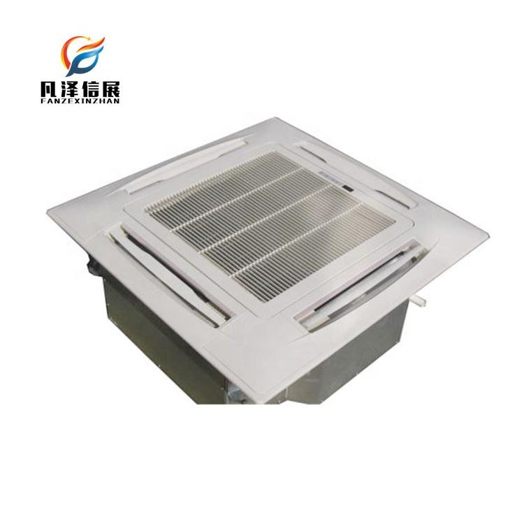 Chilled water 2 pipe 4 pipe four way cassette type ceiling mounted air conditioning ducted fan coil unit FCU for Office