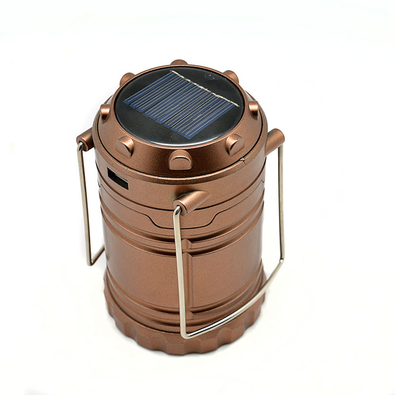 Outdoor Emergency Foldable Portable Water Resistant Hanging Tent Rechargeable Solar Led Camping Light Lantern Lamp
