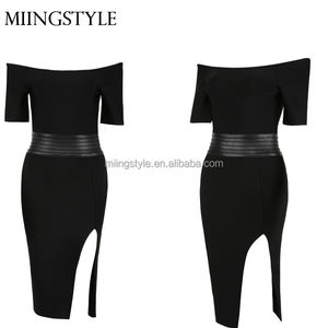 Schulterfrei sexy bodycon kleid cocktail
