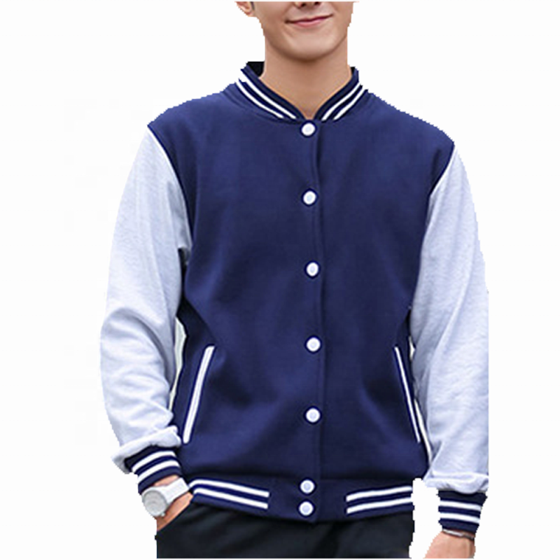 Custom bomber down letterman jacket college baseball varsity jackets men