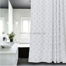 Customer customize 3D Digital printing 12 hooks shower curtain