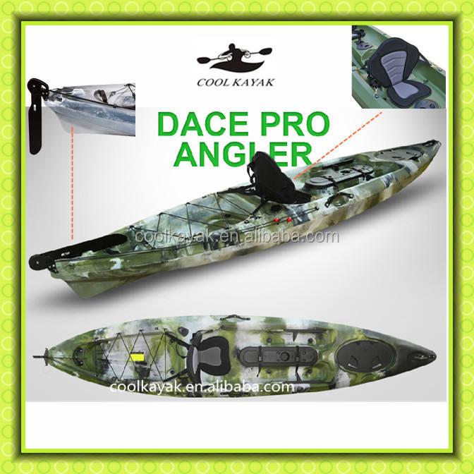 Único de pesca canoa kajak com leme e pedal de fresco caiaque