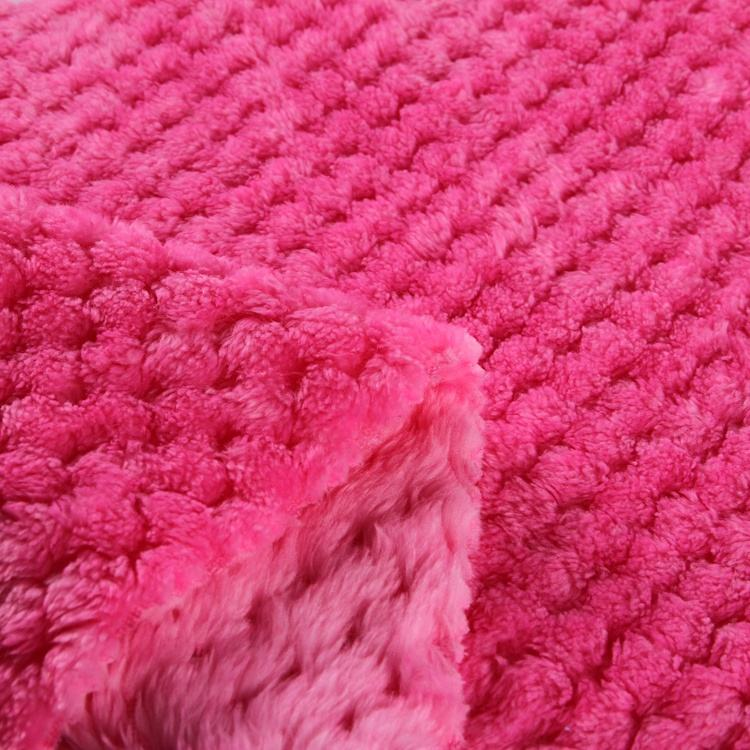 High quality widely used pink embossed coral fleece fabric for blanket