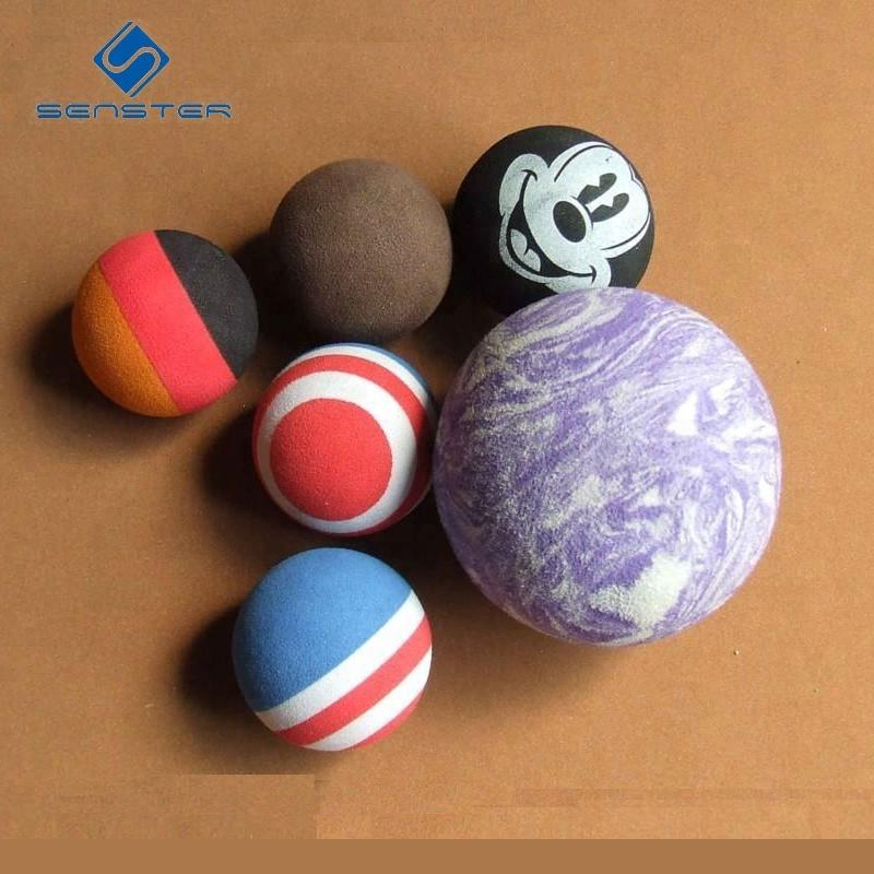 Manufacturers supply environmental protection eva foam ball air cannon foam ball foam stress ball