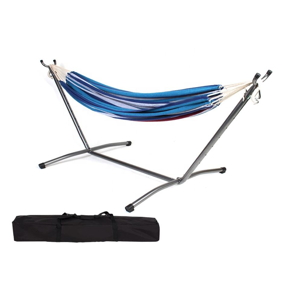 Cheap portable double hammock with stand