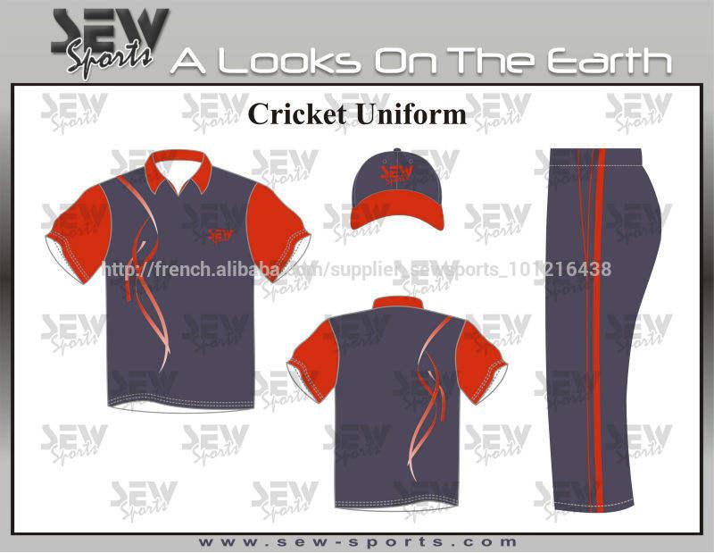 personnalisée sublimée uniformes <span class=keywords><strong>cricket</strong></span>