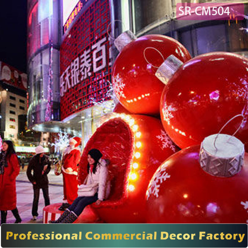 Customize outdoor 1m 1.2m 1.5m 1.8m 2m stacking Christmas ball decoration