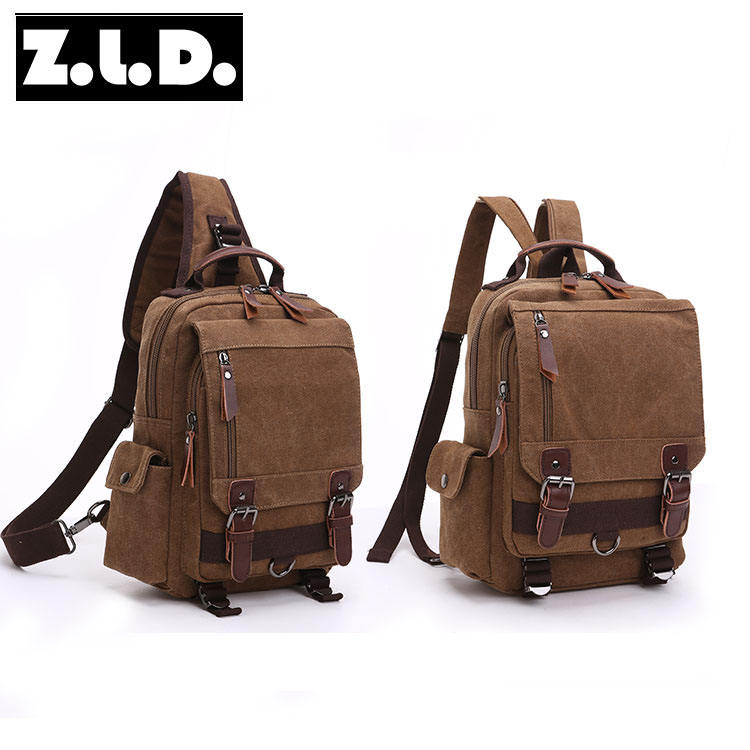 solid color canvas backpack vintage backpack for men and women outdoor backpack notebook