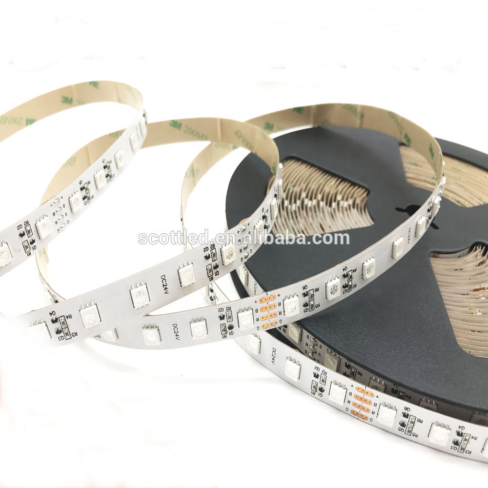 SMD5050 RGB long constant current Driver flexible led strip DC24V 15M without voltage drop
