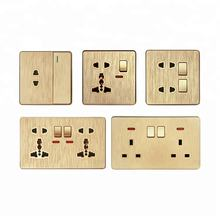 Multiple species electrical 86mm 146mm switch socket, UK multi function wall outlet for home