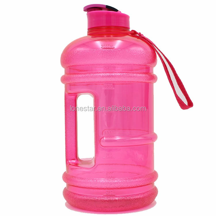 Hot selling Custom logo printed 210g strong thickness drinking type bpa free 2.2l petg water bottle