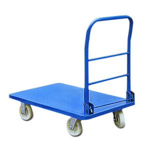 foldable trolley platform hand truck with four wheel