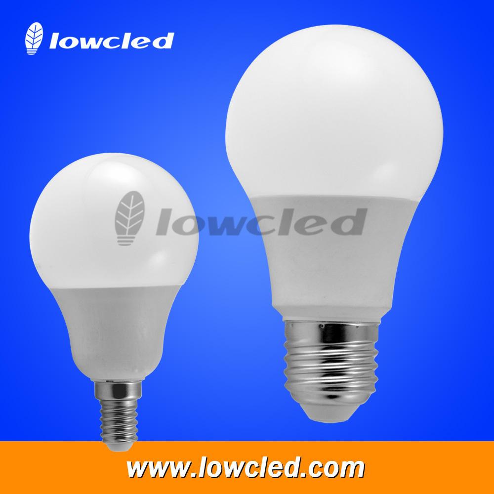 Светодиодные Лампы A60 пластик + алюминий AC85-265V cob чип 7 Вт светодиодное освещение лампы хорошо