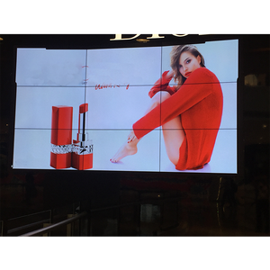 55 Inch Bezel 3.5 Mm LG 2X2 3X3 Berdiri Bebas Super Sempit Video Wall LCD