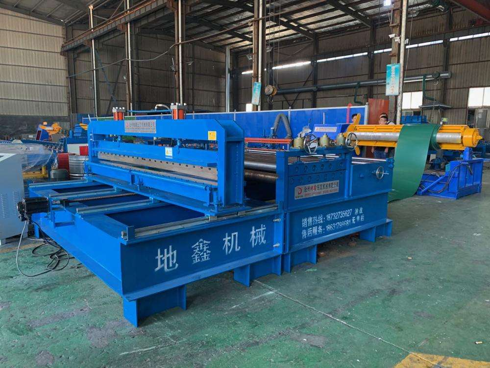 For Manufacturing Plant Roofing Sheet Cutting Machine Decoiler Flattening And Cutting To Length Metal Sheet Tile Roofing Roll Forming Machine Production Line