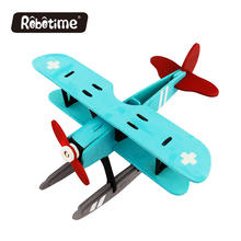 ROBOTIME  3D Wooden Toys for Kids Gifts Painting Puzzle Educational Toys