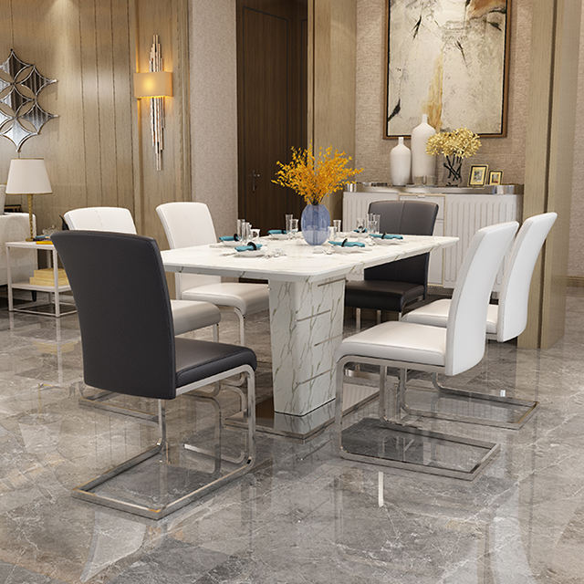 modern style marble dinning table sets LCZ105