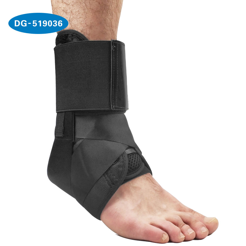 Lace up compression Ankle Brace Support Brace with Stabilize Straps to Prevent and Recover from ankle sprains
