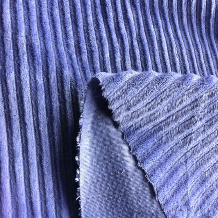 poly cord fabric/polyester corduroy/warp knitted fabric