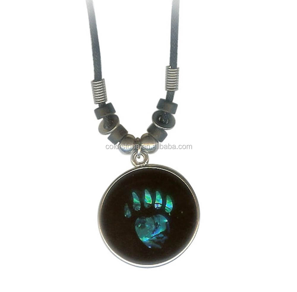 Claw Pendant Turquoise Coral Shell Spirit Animal Bear Paw Black Pendants