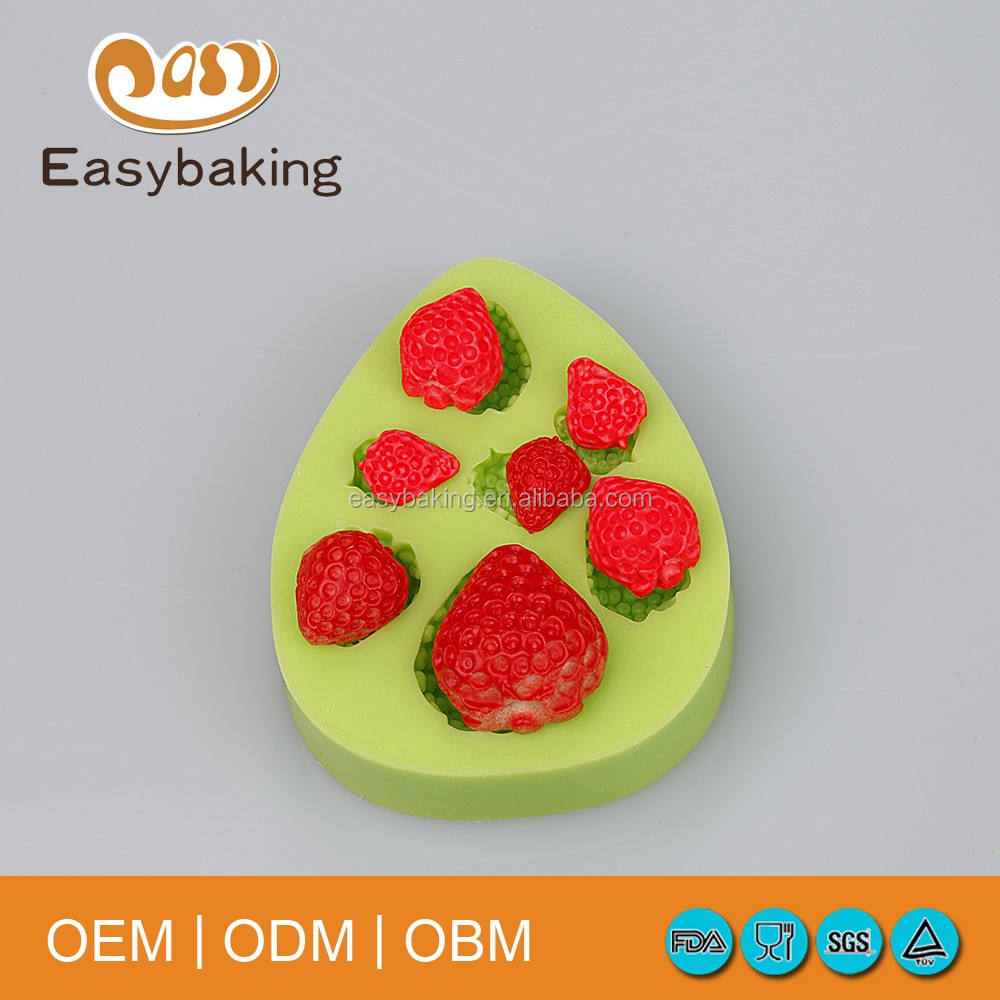 Hot Sale Item Strawberry Cupcake Decorate Baking Silicone Fondant Molds