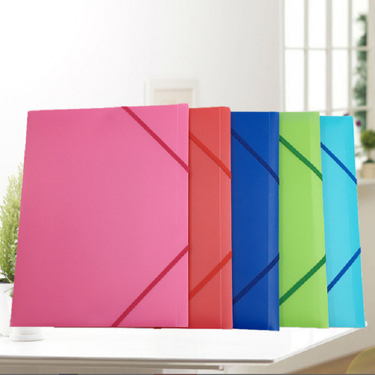hot sale plastic file folder with elastic string