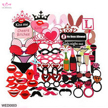 New Arrival 61pcs Party Supplies Girls Night Out Game Bachelorette Hen Photo Booth Props
